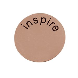 Picture of 'Inspire' Medium Rose Gold Coin
